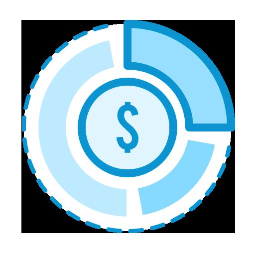 pie chart money icon